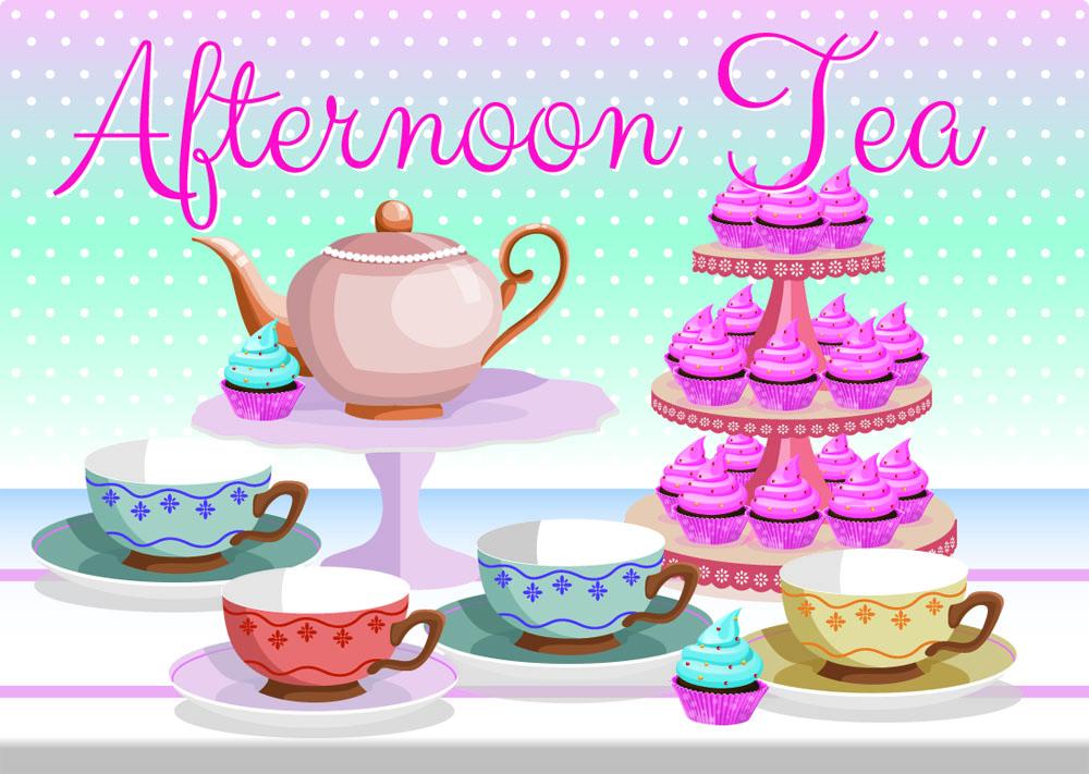 Tea Cakes Clipart