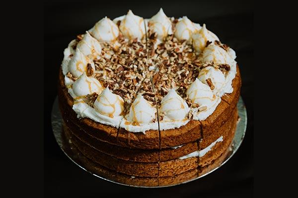 Vegan Banana, Toffee & Pecan Cake