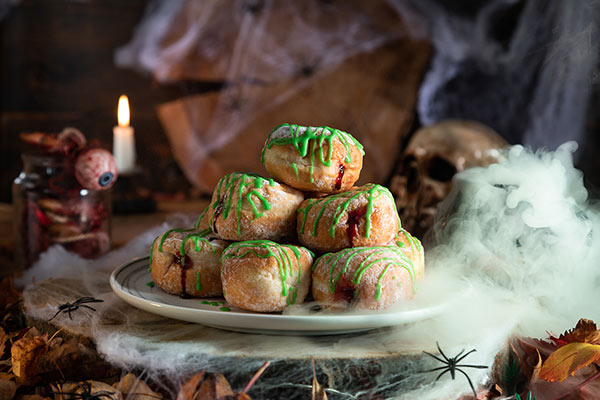 Halloween Blood and Slime Doughnuts