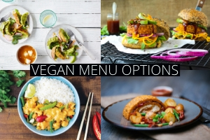 Vegan menu options. Easy as pie.