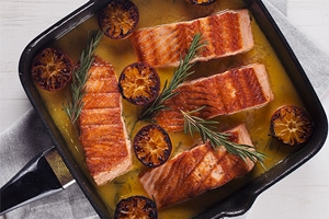 Skillet Trout with Orange & Rosemary