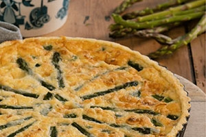 Clotted Cream, Asparagus & Cornish Brie Quiche