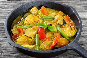 Malaysian Coconut and Turmeric Vegetables