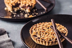 Dark Chocolate and Caramel Tart