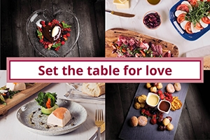 Set the table for love this Valentine's Day