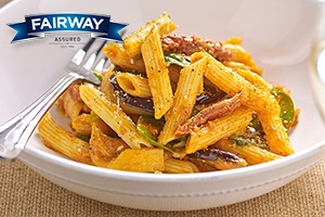 Penne with Sundried Tomato, Artichokes and Red Pesto