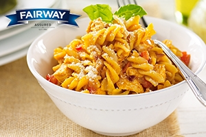 Fusilli Pasta in a Chicken and Arrabiata Sauce