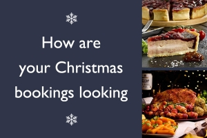 How are your Christmas bookings looking?